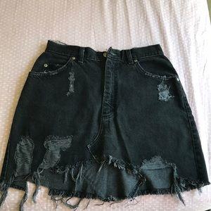 Lf furst of a kind black jean skirt